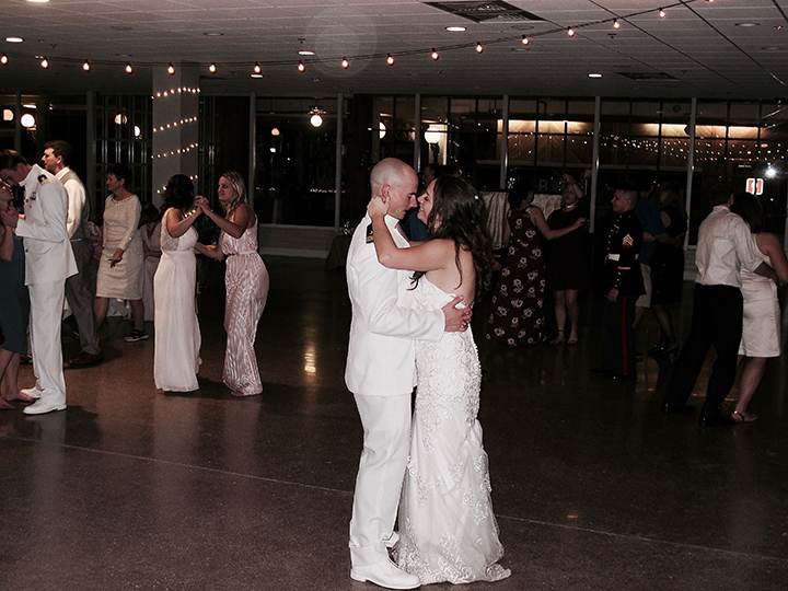 The Bride and Groom dance together at Silver Springs State Park