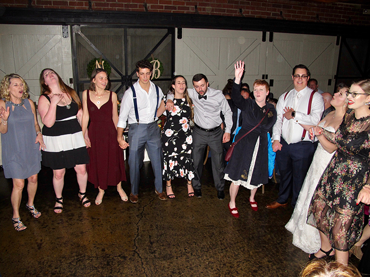 Guests having fun at the wedding reception in Winter Park