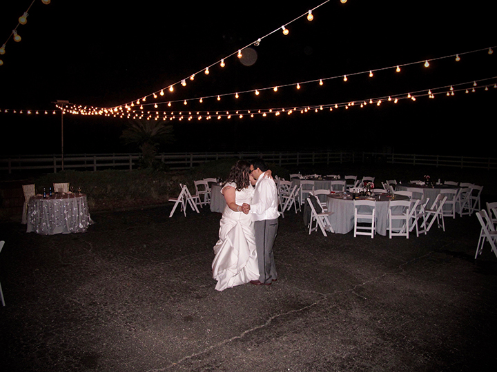 A Private Last Dance for a wedding couple at the Lange Farm Reception Venue