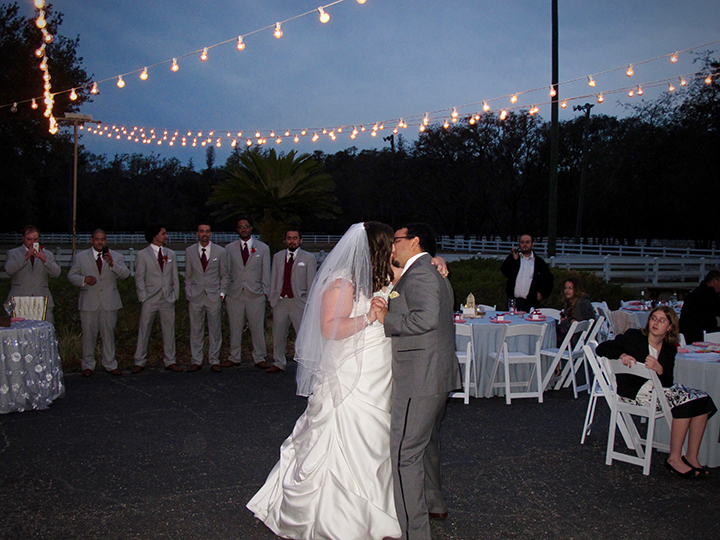 At the Lange Farm in Dade City, a bride and groom share a first dance.