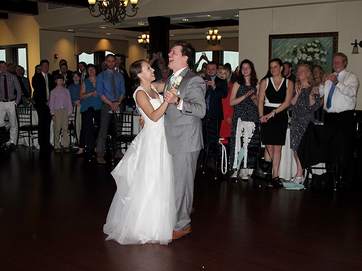 It's their First Dance as a married couple at the Tavares Pavilion on the Lake.