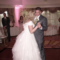 The couple celebrate their first dance with Orlando Wedding DJs at Walt Disney World.