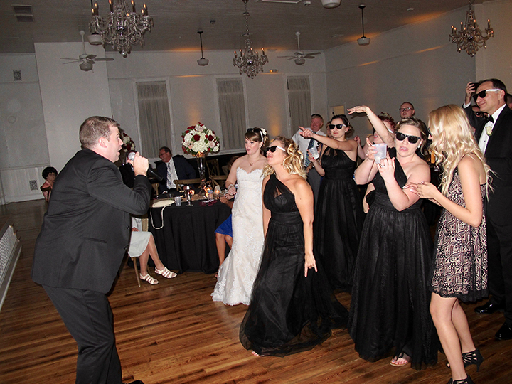 Guests having fun at the Wedding Venue 1902 at Preservation Hall in Sanford, FL.