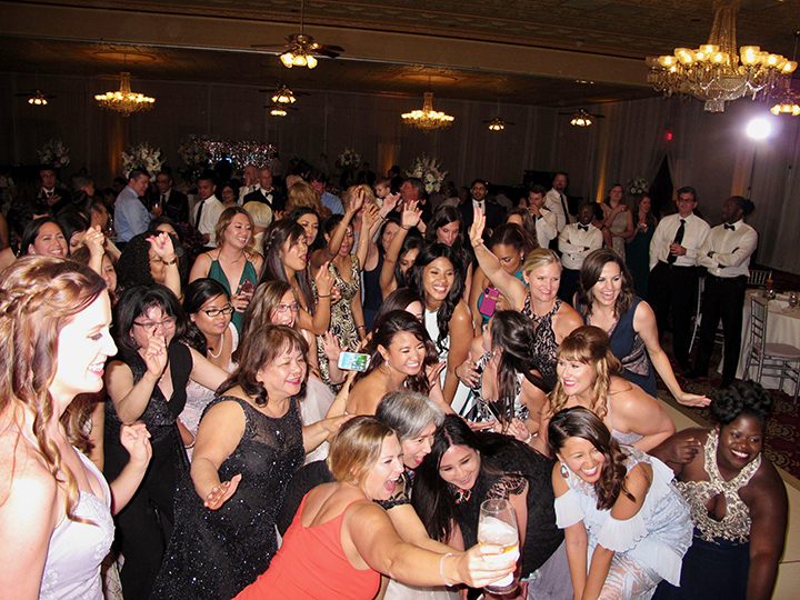 Wedding Reception guests are having too much fun the Ballroom at Church Street!