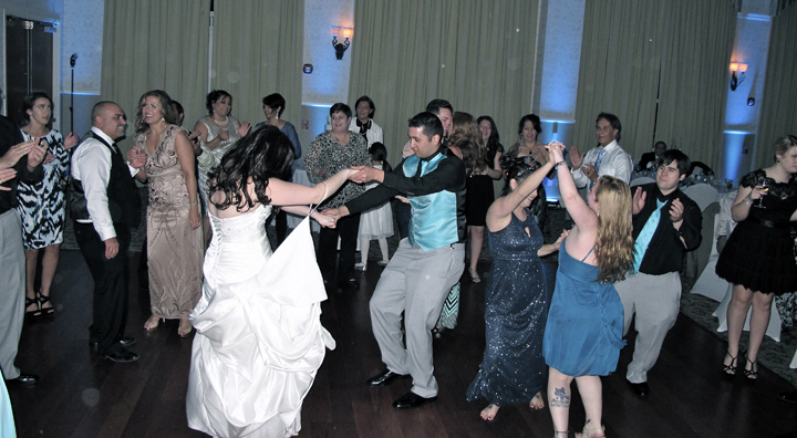 Orlando Wedding DJ Chuck Johnson helps the wedding party dance all night long in the Ballroom!