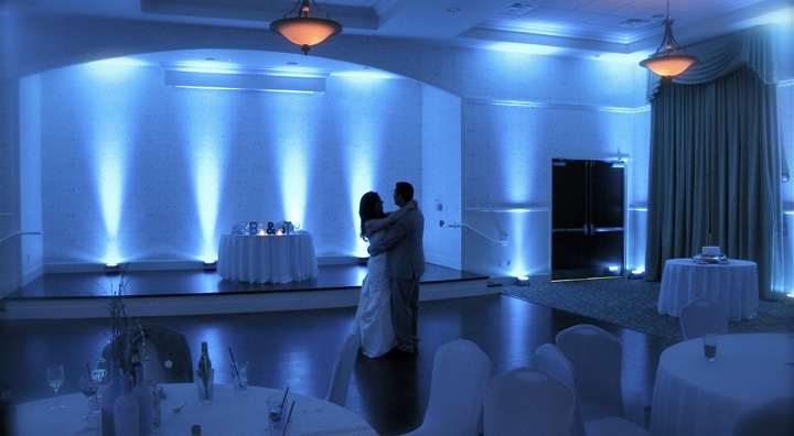 A Bride and Groom share a private Last Dance of their wedding reception at the Lake Mary Events Center.