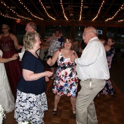 Wedding guests dancing and celebrating with Orlando DJ Chuck from Classic Disc Jockeys.