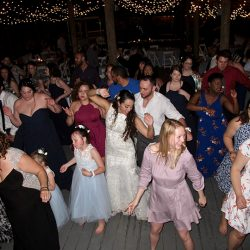Wedding guests love dancing the night away at this Paradise Cove Wedding Reception.