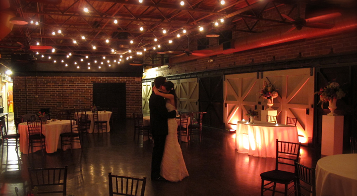 The Winter Park Farmer's Market can be transformed into this lighted paradise for your wedding reception.