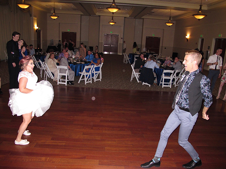 Dancing the night away at the Same-Sex wedding reception at the Lake Mary Events Center.