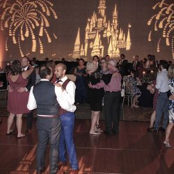 Orlando same-sex couple dance their first dance of their wedding with Orlando DJ Chuck Johnson.