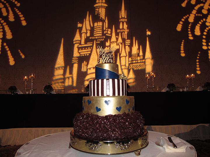 Wedding cake for LGBTQ-friendly Orlando wedding DJ Chuck Johnson at the Grand Floridian.