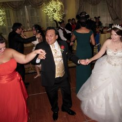 Disney weddings: the bride and groom are on the dance floor with Orlando Wedding DJ Chuck Johnson