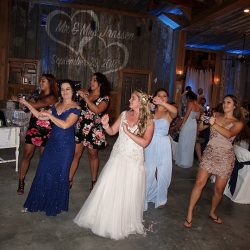 The bride and her friends take to the dance floor with Tampa Wedding DJ Chuck Johnson