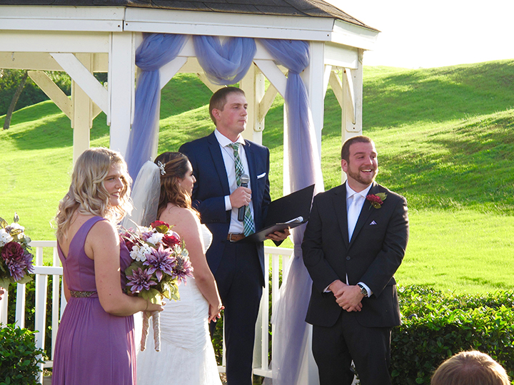 The gazebo at Falcon's Fire Weddings is the perfect spot for a wedding ceremony.