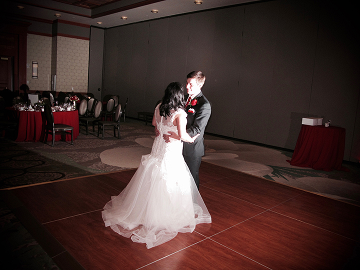 """The couple share the last dance of the reception with Orlando Wedding DJ Chuck's """"Kiss Goodnight."""""""