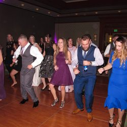 Wedding guests enjoying the dance floor with orlando wedding dj Chuck Johnson.