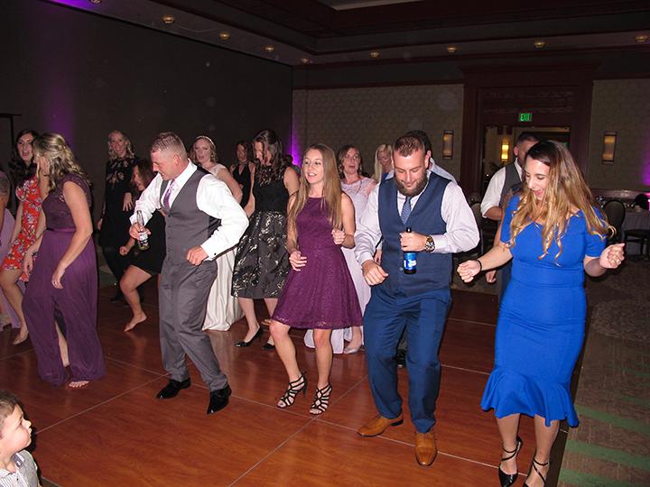 Wedding guests enjoying the dance floor with Orlando wedding DJ Chuck Johnson.
