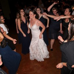 The bride on the Dance floor with Orlando DJ Chuck at her Skyline Ranch Wedding