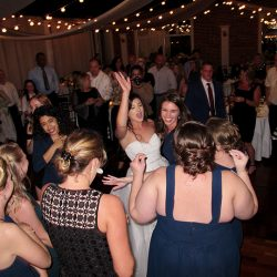 A Bride is on the dance floor for a White Room St Augustine Wedding.