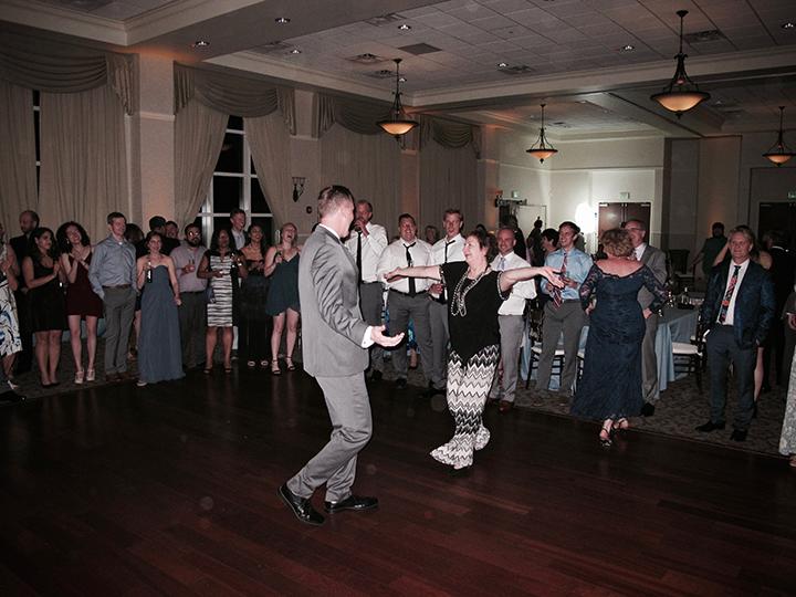 The groom dancing at his wedding with Orlando Wedding DJ Chuck Johnson