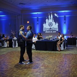 Orlando same-sex wedding couple Ryan and Daniel celebrate their First Dance together.