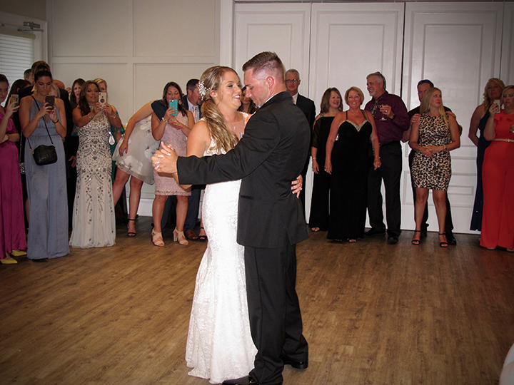 The First Dance of the wedding at Lake Nona Golf & Country Club.