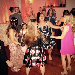 Guests on the dance floor of a Crystal Ballroom at Veranda Wedding.