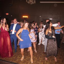 Wedding guests having fun on the dance floor with Orlando DJ Chuck Johnson.
