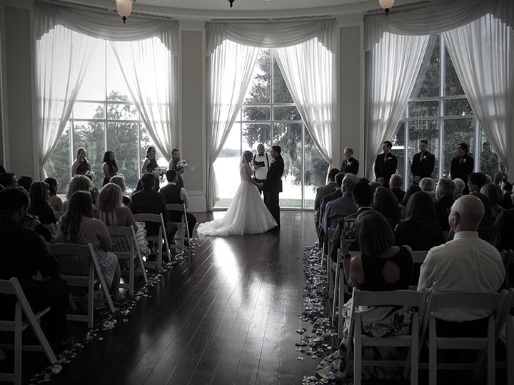 Orlando Wedding DJ Chuck Johnson provides ceremony music at the Lake Mary Events Center.