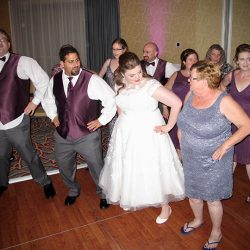 The bride and her friends are having fun on the dance floor with Orlando Wedding DJ Chuck Johnson.
